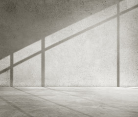 Concrete Room Corner Shadow Cement Wallpaper Concept