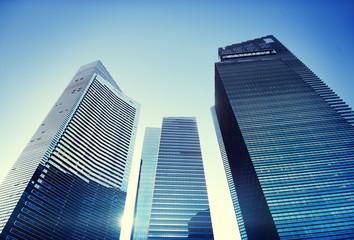Contemporary Architecture Office Building Cityscape Cocnept