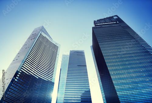 canvas print picture Contemporary Architecture Office Building Cityscape Cocnept