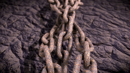 Rusty chain.Seamless loop