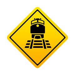 Señal amarilla ferrocarril