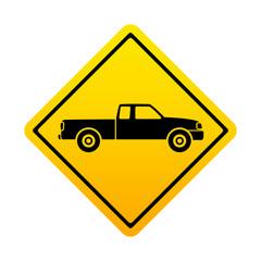Señal amarilla pickup
