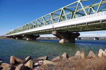 テトラポットと鉄橋