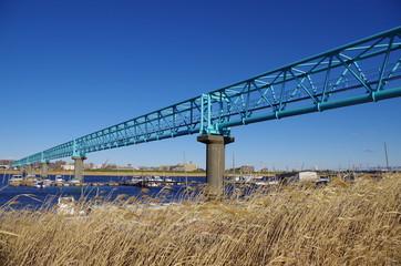 水管橋と枯草