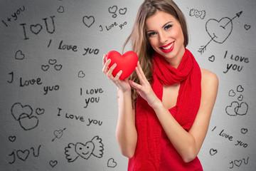 Adorable Valentine's woman