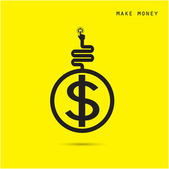 Creative financial and economic logo design template, business a