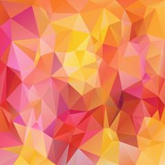 vector background triangular design - red, pink, yellow, orange