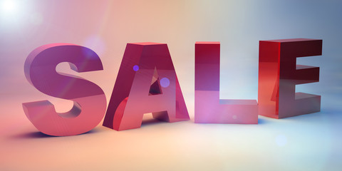 Beautiful 3d render  text SALE