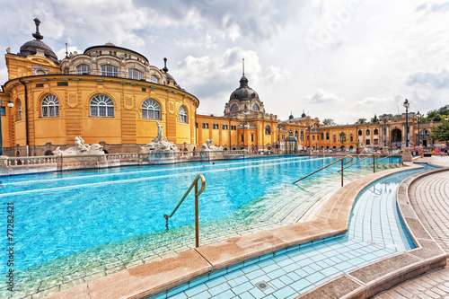 Poster  Szechenyi thermal baths in Budapest.