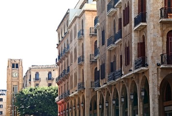 Downtown Beirut on a white background