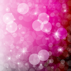 Abstract Vector Pink Blurred Bokeh Background
