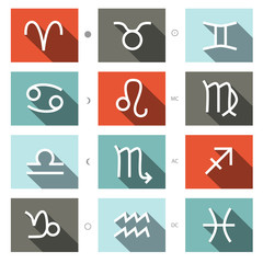 Vector Zodiac Symbols Set