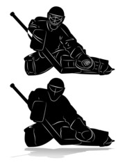 hockey goalie silhouette