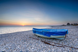 Naklejka Fishing Boat on Chesil Beach