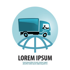 free shipping vector logo design template. Logistics or truck