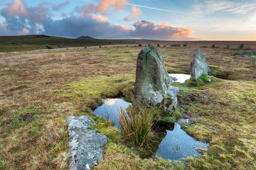 Stone Circle on Bodmin Moor