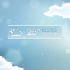 Vector Weather Widget Notification