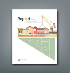 Cover Annual reports building constructions background design