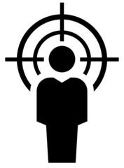 Man under crosshair icon
