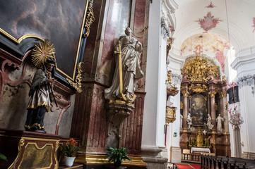 Church interior in Linz, Austria