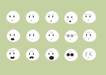 cute faces emoji