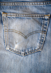 closeup fashion jean pocket texture