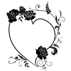 heart and rose, frame