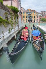 Gondole floating in Venice, Italy