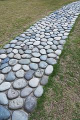 old garden stone path