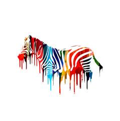 Colorful vector zebra