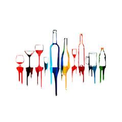 Colorful vector bottles