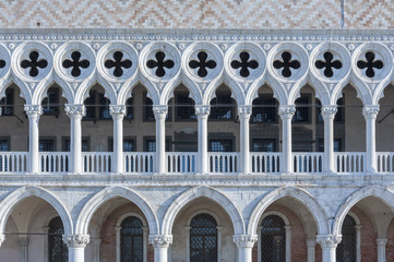 Doge's palace in St Mark's Square in Venice, Italy