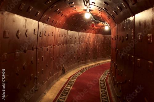 Aluminium Oost Europa Interior view of old soviet bunker