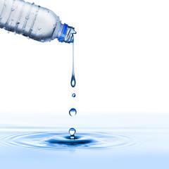 Water Drop From Water Bottle