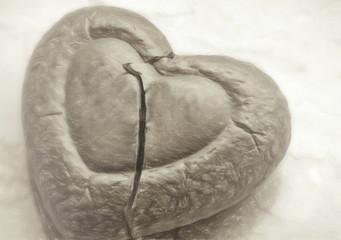 broken heart  - illustration based on own photo image