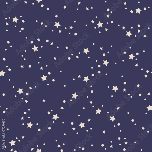 Cotton fabric seamless stars pattern