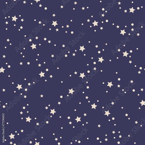 Cotton fabric seamless stars pattern