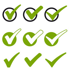 collection green checkmarks