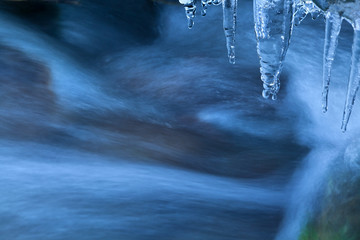 icicle and river flow