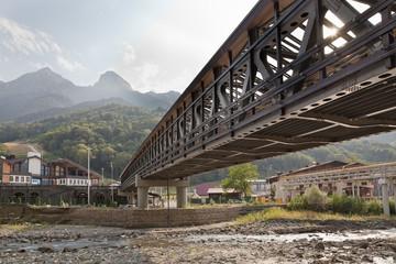 Россия. Сочи. Красная Поляна. Мост через реку Мзымта