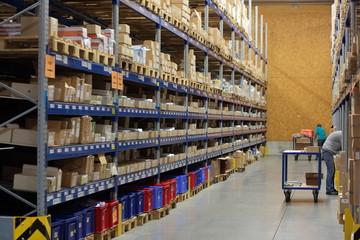 Logistik Lagerhalle