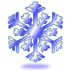 Schnee Schneeflocke Button #150201-03
