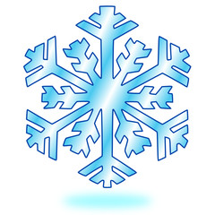 Schnee Schneeflocke Button #150201-04