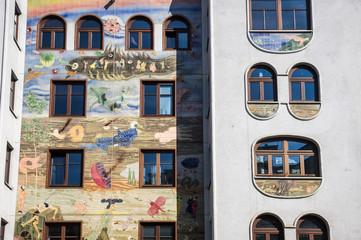 Art Nouveau building in Vienna, Austria