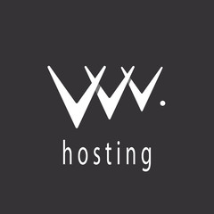 V - letter or abstract web hosting sign logo template