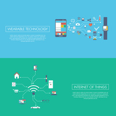 Internet of things concept vector illustration with icons for