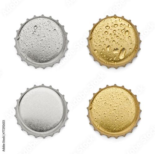 Leinwanddruck Bild metal cap bottle drink