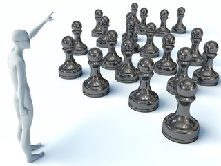3d man and chess