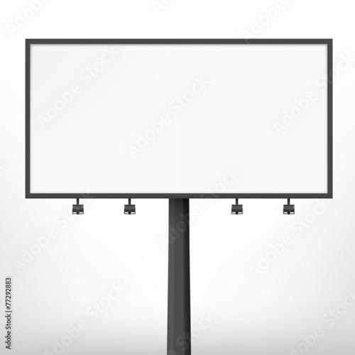 Blank black billboard, vector illustration.