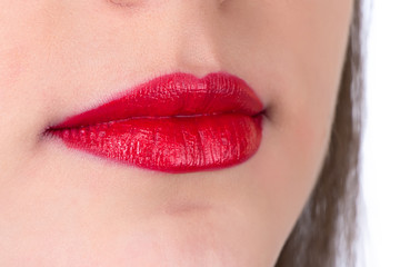 Photo of the red woman's lips